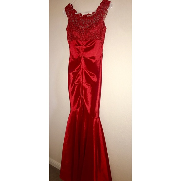 Xscape Dresses | Vibrant Red Mermaid Style Prom Dress | Poshmark